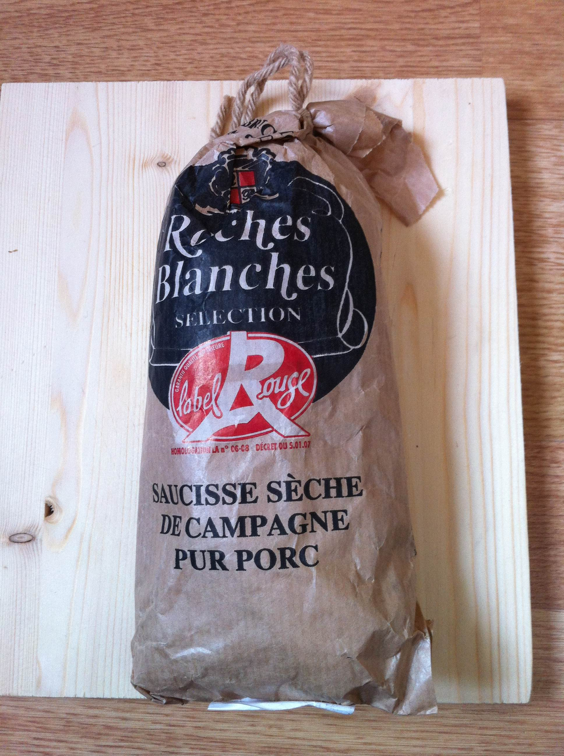 saucisse sèche campagne roches blanches