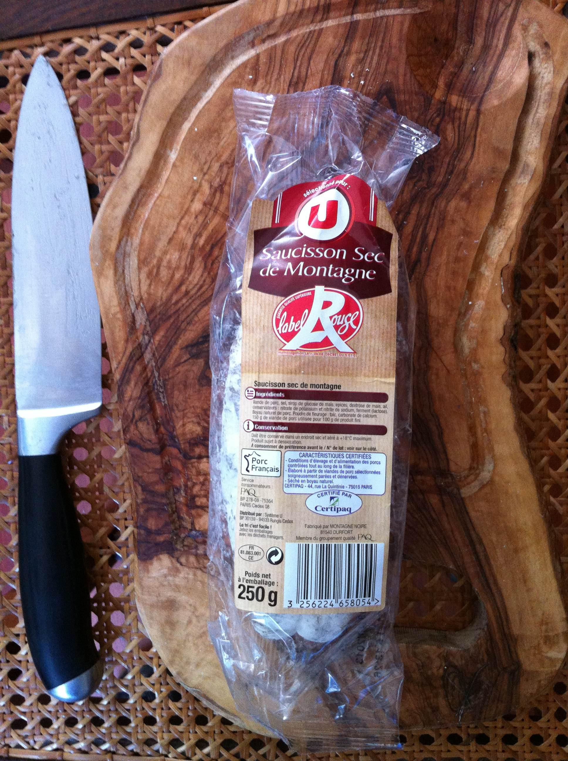 Saucisson sec de montagne U label rouge