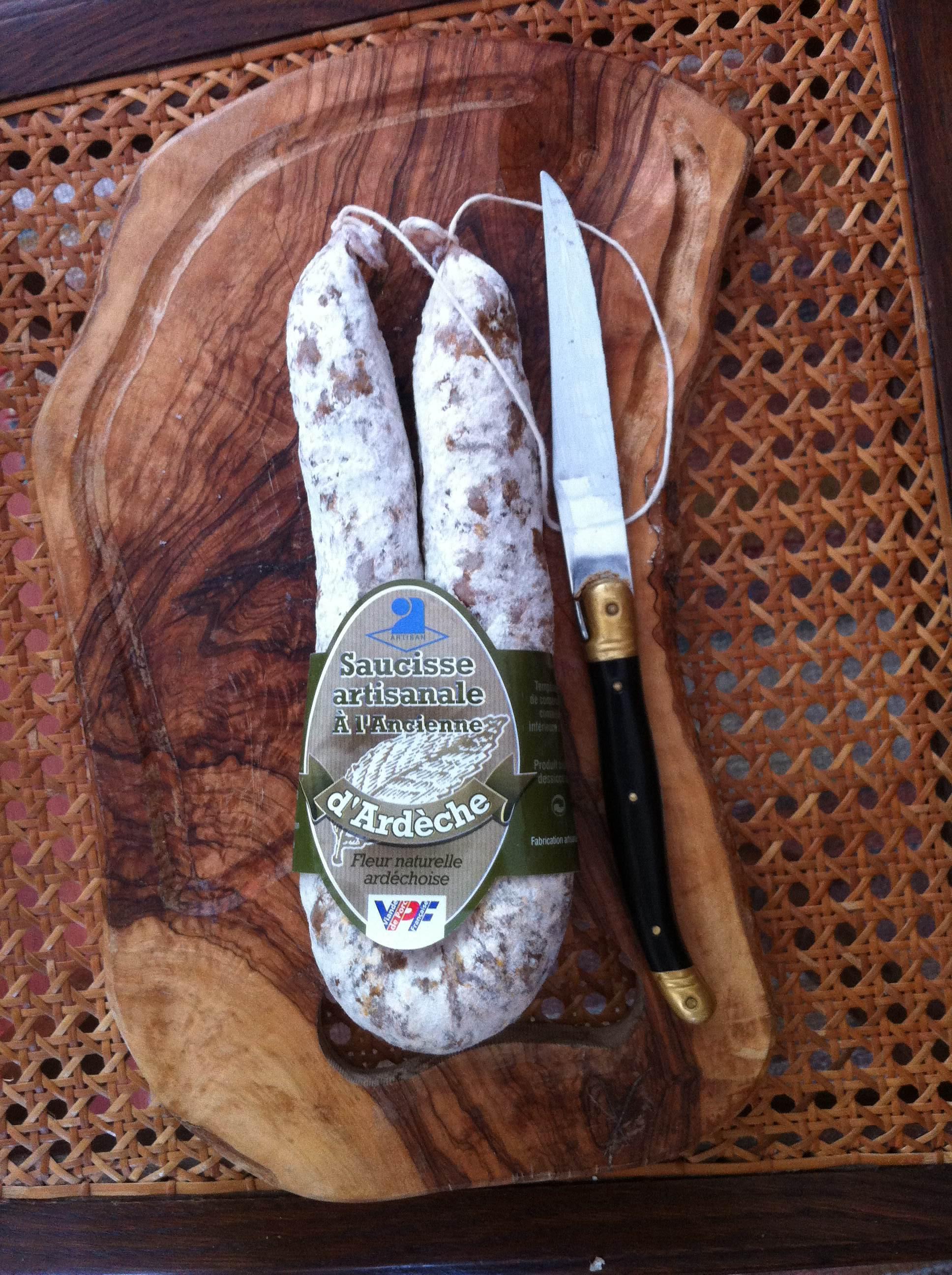 Saucisse sèche artisanale d'Ardèche Sauss de Terroirs 1