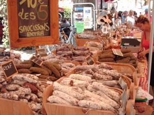 Sur un marché