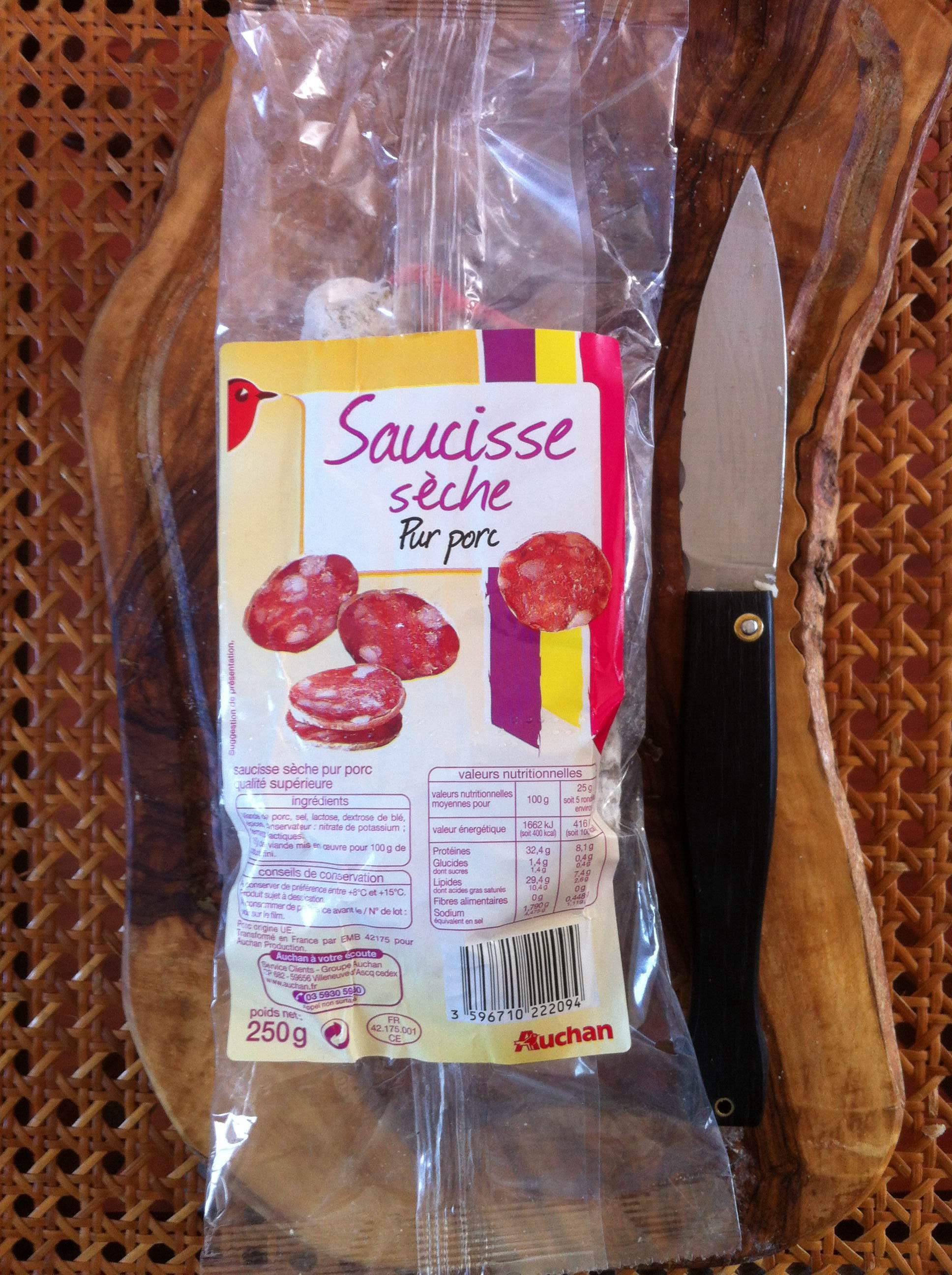 Saucisse sèche courbe Auchan